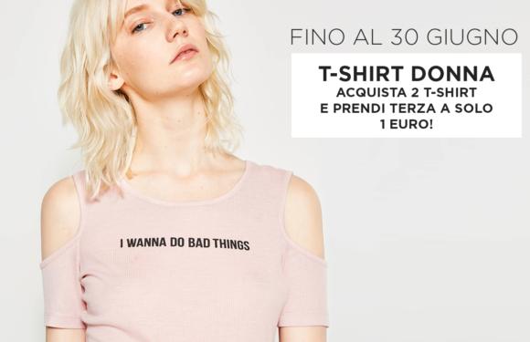 OVS: Promo T-SHIRT Donna 3 capo ad 1 Euro