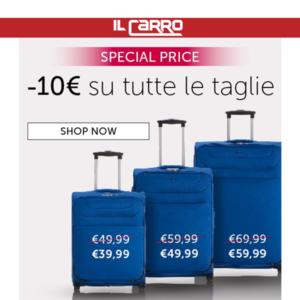 CARPISA: -10€ PROMO VALIGIA