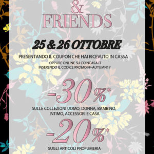 COIN CASA: Family e Friends 25 – 27 Ottobre