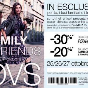 OVS: Family e Friends 25 – 27 Ottobre