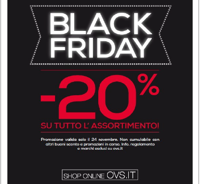 OVS: Black Friday 23 e 24 Novembre