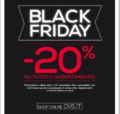OVS: Black Friday 23 e 24 Novembre